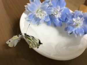 蝶々仲良し花