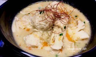 やわらか鶏つくねの坦々風スープ&切りコンブと豚肉と厚あげのザーサイ炒め